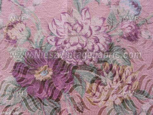 1930's Pink Floral Curtain Panels