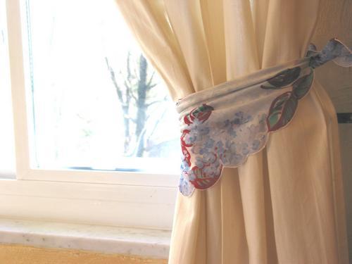 Creative Curtain Tie Backs Ideas : Creative Curtain Tie Backs Ideas : Niesz Vintage Fabric & Design ...