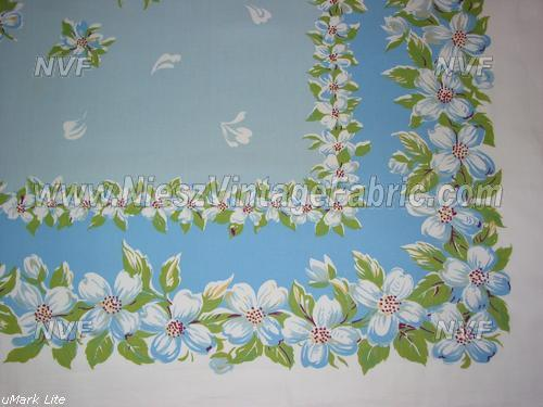Powder Blue Dogwood Tablecloth