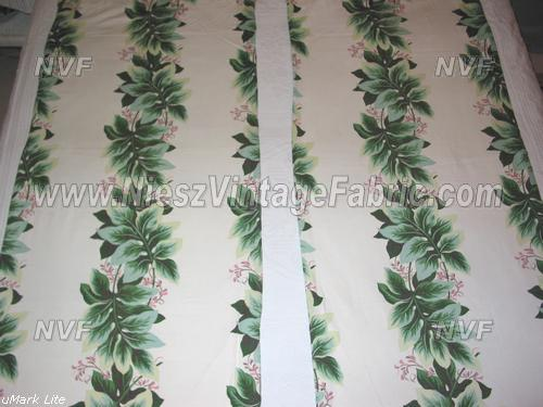 Pink and Green Tropical Curtains