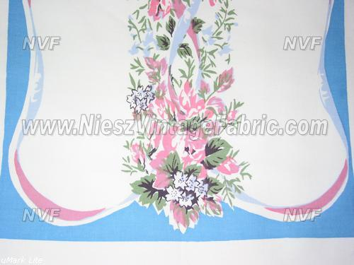 Pink and Blue Floral Towel
