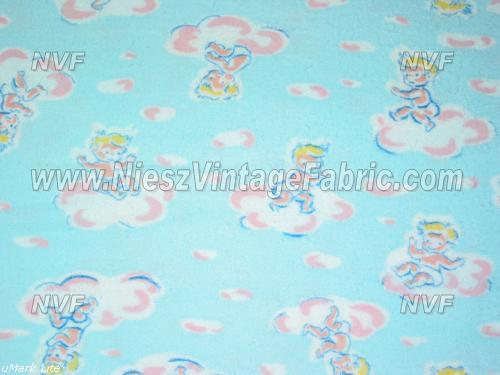 Babies on clouds flannel