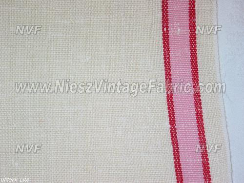Pretty Pink and Red Stripe Kitchen Towels