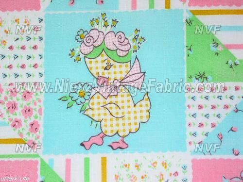 Pastel Nursery Cheater Quilt Fabric