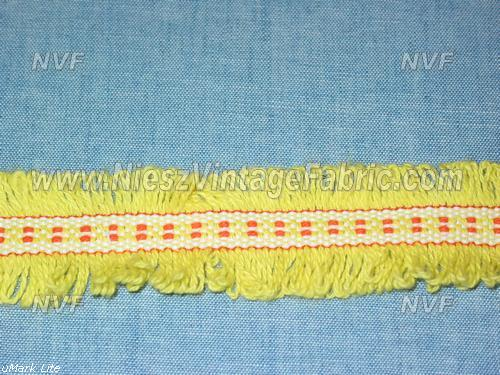 Bright Yellow Looped Fringe Trim