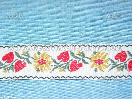 Strawberries and Sunflowers Embroidered Trim
