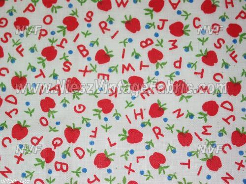 Juvenile Novelty Fabric Apples and ABCs