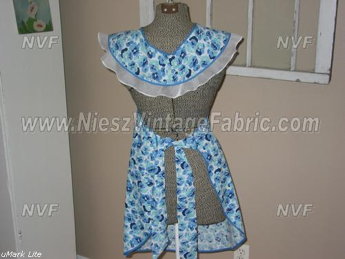 Blue Pansy Full Apron