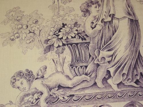 Antique Cherubs and Pastoral Toile