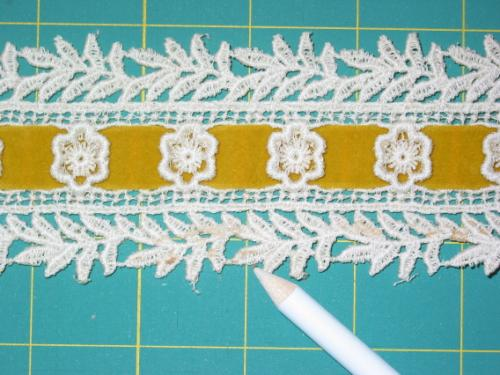 Gold Ribbon and Lace Trim