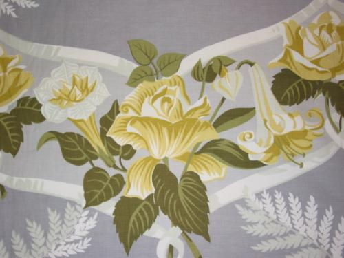 Yellow Roses and Lilies on Grey