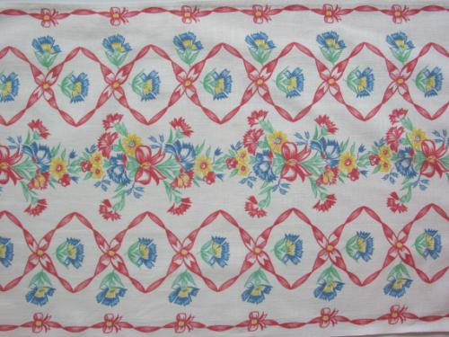Red Bows and Flowers Towel