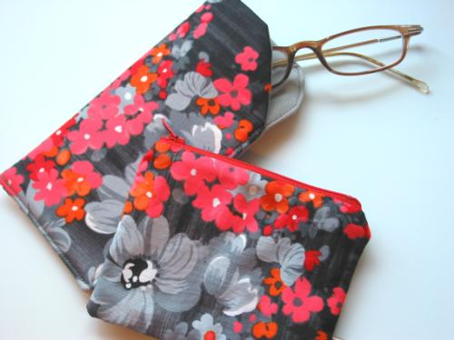 Eyeglass Case and Coin Purse Set
