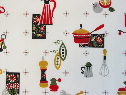 Vintage Kitchen Print Fabric