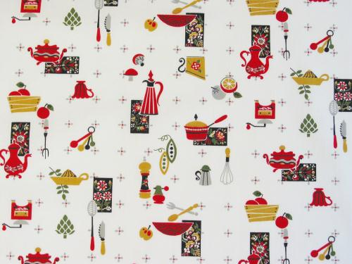 Vintage Kitchen Fabric Custom Decorating