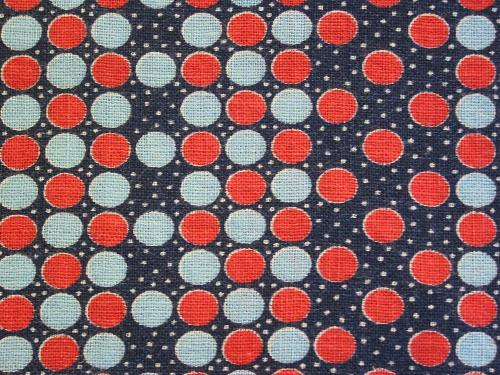 Navy Blue Geometric Dot Feedsack