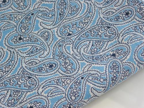 Blue Paisley Feedsack