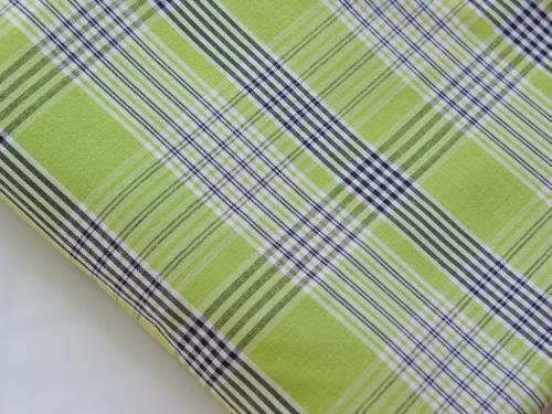 Vintage Fabric Lime Green Plaid