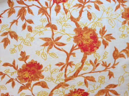 Vintage Antique Satin Drapery Fabric