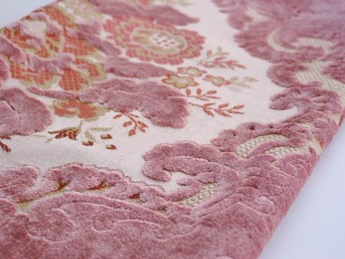 Vintage Lavender Pink Cut Velvet Brocade