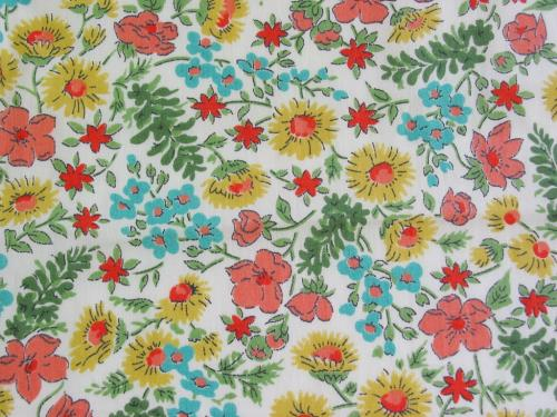 Vintage Wildflower Rayon Fabric